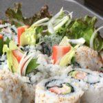 めんたいマヨで明太サラダ巻きだぉ!食欲の落ちた時はお寿司が一番!【かんたん裏巻編】